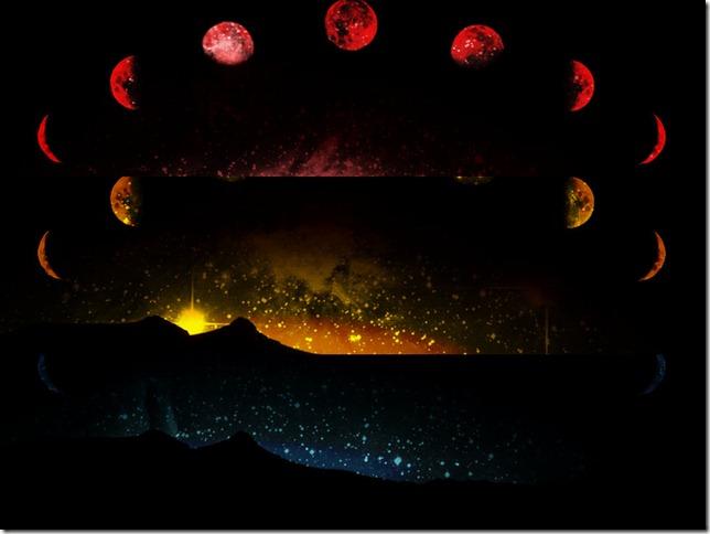 Mondphasenabstrakt