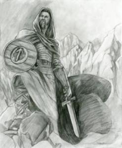 Der nordische Gott Tyr. Gott der Gerechtigkeit